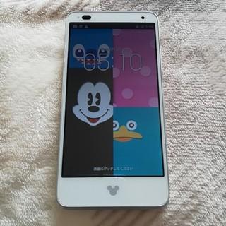 ディズニー(Disney)の美品☆ディズニーモバイル Disney Mobile 子供のおもちゃ ゲーム専用(スマートフォン本体)