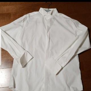 結婚式 ウイングカラーシャツ Lサイズ ブライダル メンズ(その他)