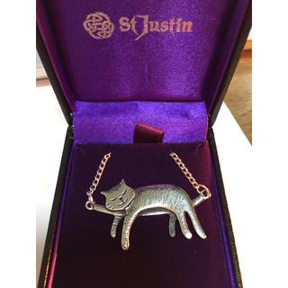 ツモリチサト(TSUMORI CHISATO)の猫ねこネコcatペンダントネックレス新品未使用(ネックレス)
