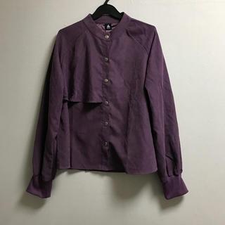 4ca409323b6b50 メルロー(merlot)の新品 メルロー くすみパープルシャツ(シャツ/ブラウス(長袖