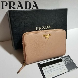 cdc65d9e153d プラダ(PRADA)の新型♢本物鑑定済♢プラダ サフィアーノ ラウンドファスナー コンパクト