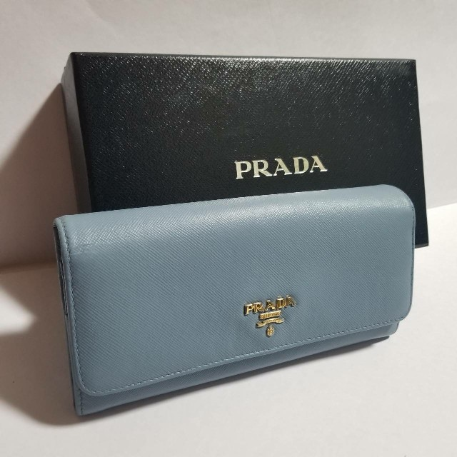 67f7a48e0d78 PRADA(プラダ)の♢本物鑑定済♢プラダ サフィアーノ ライトブルー ネイビー マルチ