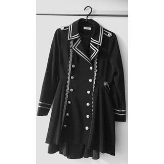 トゥアリス(To Alice)のTo Alice ブラックコート 軍服スタイル(トレンチコート)