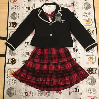 632440c91c0d0 女の子 フォーマル 120 AKB風 チェックスカート(ドレス フォーマル)