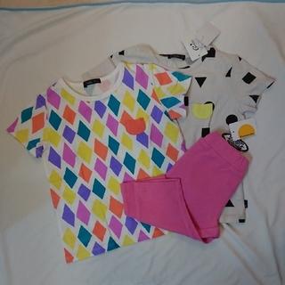 カルディア(CALDia)の新品3点セット カルディア半袖Tシャツ110 ムージョンジョンパンツ 100(Tシャツ/カットソー)