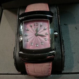 ダミアーニ(Damiani)のダミアーニ エゴ11Pダイヤ インデックス ピンク 革ベルト(腕時計)