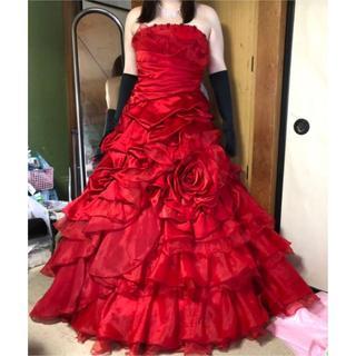 GW値下げ!カラードレス赤(大きいサイズ)アヤナチュール(ウェディングドレス)