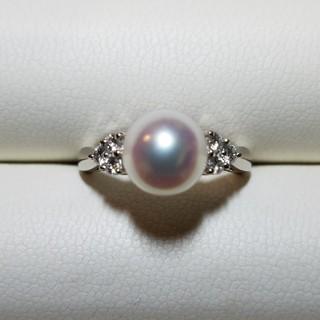 ミキモト(MIKIMOTO)のオシャレ上級者アイテム👑現行品MIKIMOTOあこや真珠&ダイヤモンドリング(リング(指輪))