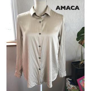 アマカ(AMACA)のAMACA シルクシャツ(シャツ/ブラウス(長袖/七分))