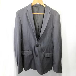 コムサイズム(COMME CA ISM)の美品 コムサイズム スーツ ジャケット ストライプ グレー MM3(スーツジャケット)