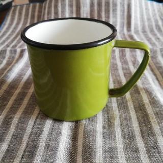 ノダホーロー(野田琺瑯)のホーロー(琺瑯)マグカップ オリーブグリーン(グラス/カップ)