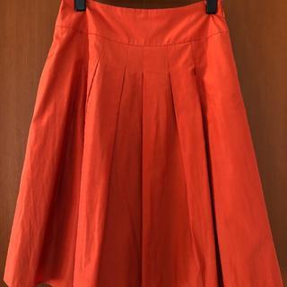 アンレクレ(en recre)のアンレクレ   膝丈フレアスカート(リボン付き)(ひざ丈スカート)