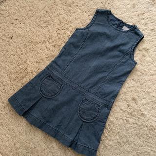 シリリュス(CYRILLUS)のシリリュス デニムジャンパースカート 115センチ(ワンピース)