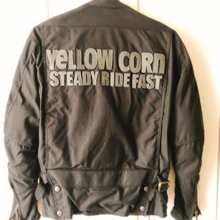 イエローコーン(YeLLOW CORN)のYELLOW CORN*プロテクター入り*ライダースジャケット*M(装備/装具)