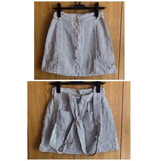 スカート パンツ 3点セット(サスペンダー)