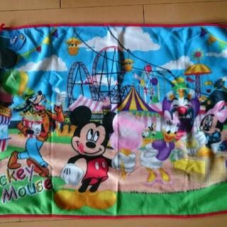 ディズニー(Disney)のディズニー ミッキーマウス ブランケット 袋付き(おくるみ/ブランケット)