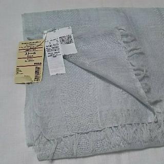 ムジルシリョウヒン(MUJI (無印良品))の未使用品  無印良品  綿麻ストール サックスブルー(ストール/パシュミナ)
