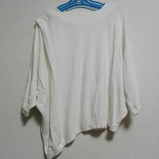 ジーユー(GU)の七分袖 トップス   アシメ S(Tシャツ(長袖/七分))