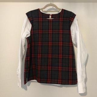 オキラク(OKIRAKU)のオキラク OKIRAKU ドッキングシャツ(シャツ/ブラウス(長袖/七分))