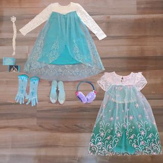 ディズニー(Disney)のサイズ120 アナと雪の女王 エルサ アナ コスプレセット(衣装)