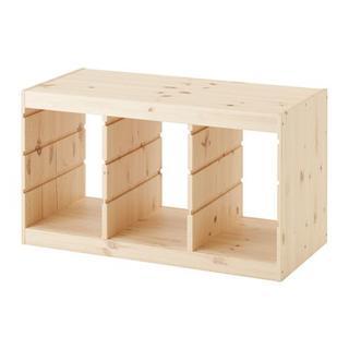 イケア(IKEA)の【新品・送料込】IKEA TROFAST トロファスト フレーム,横型 パイン(収納/チェスト)