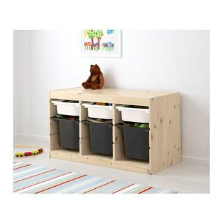 イケア(IKEA)の【新品・送料込】トロファスト★ホワイトSx3,ブラックx3(その他)