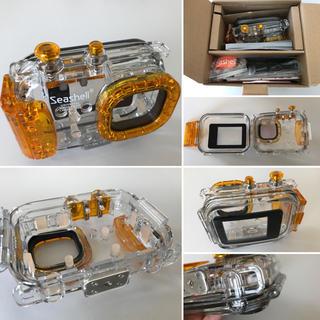エツミ(ETSUMI)の【送料無料】ETSUMI☆コンパクトカメラ用水中ハウジング(プレゼント付)(マリン/スイミング)