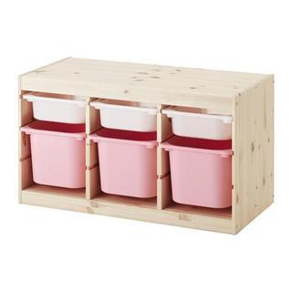 イケア(IKEA)の【新品・送料込】トロファスト★ホワイトSx3,ピンクMx3(収納/チェスト)