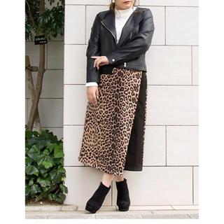 クレット(clette)の【大きいサイズ】4L☆ヒョウ柄☆スカート(ロングスカート)