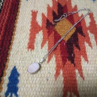 インディアン(Indian)のインディアンジュエリー ナバホ族 B sterling ピンクシェル ネックレス(ネックレス)