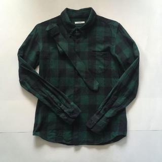 アズヴィーナス(ASVENUS)のAS VENUS ネクタイ付き チェックシャツ ネルシャツ(シャツ)