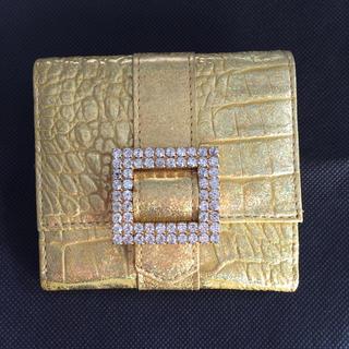 アッシュアンドダイアモンド(ASH&DIAMONDS)の【美品】ASH&DIAMONDS ゴールド二つ折り財布(財布)