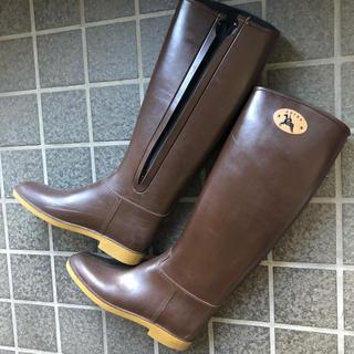 ダフナブーツ(Dafna Boots)のダフナ 長靴 ファスナー有り 茶 22.5〜23.5cm(レインブーツ/長靴)