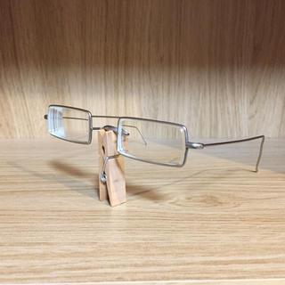 グリモワール(Grimoire)の眼鏡研究社 眼鏡フレーム  レトロ コス ゴス 銀縁(サングラス/メガネ)