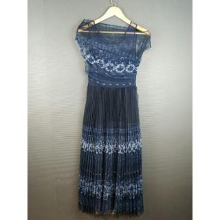クリスチャンディオール(Christian Dior)のクリスチャンディオール  プリーツイブニングドレス  プリーツワンピース(ロングワンピース/マキシワンピース)