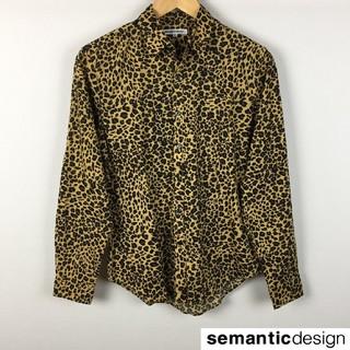 セマンティックデザイン(semantic design)の美品 セマンティックデザイン 長袖シャツ レオパード柄 サイズS(シャツ)