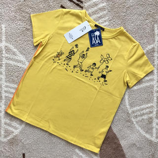 カルディア(CALDia)の新品☆カルディア ファミリーTシャツ130㎝イエロー(Tシャツ/カットソー)