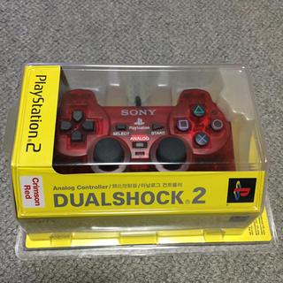 プレイステーション2(PlayStation2)のアナログコントローラー クリムゾンレッド (DUALSHOCK2) (輸入版)(その他)