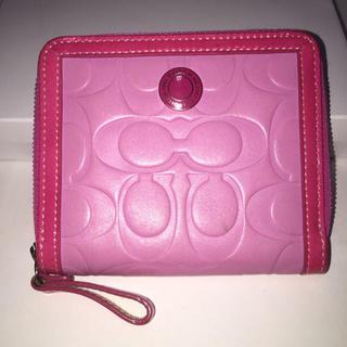 コーチ(COACH)のCOACH 二つ折り財布 ピンク色(財布)