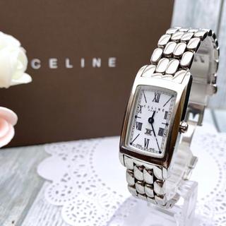 セリーヌ(celine)の【動作良好】CELINE セリーヌ 腕時計 レクタンギュラ シルバー(腕時計)
