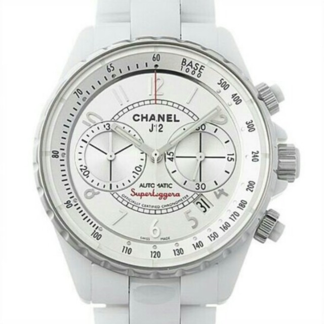 eb1acb4adcaa CHANEL(シャネル)のシャネルJ12スーパーレッジェーラH3410メンズ腕時計 レディースのファッション小物