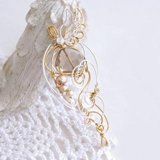 スモーキークォーツの天使ペンダント(ネックレス)