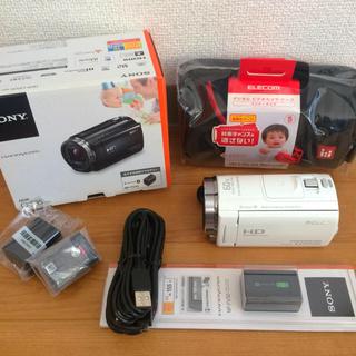 ソニー(SONY)の【新品未使用】ビデオカメラ SONY   HDR-CX535  白 セット(ビデオカメラ)