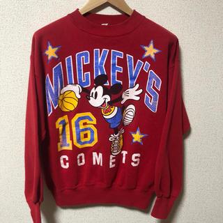 ディズニー(Disney)のUSA製 MICKEY スウェット トレーナー ミッキー vintage 古着(スウェット)