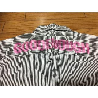 グッドイナフ(GOODENOUGH)の中古1998年発売グッドイナフ背ロゴ半袖シャツL藤原ヒロシ白灰ピンク(シャツ)