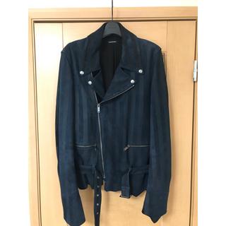 クリスチャンダダ(CHRISTIAN DADA)のStripe Print Signature Motorcycle Jacket(ライダースジャケット)