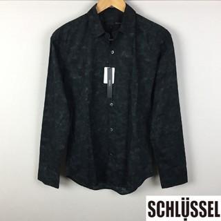 シュリセル(SCHLUSSEL)の新品 シュリセル 長袖シャツ ブラック サイズ2 タグ付未使用品(シャツ)
