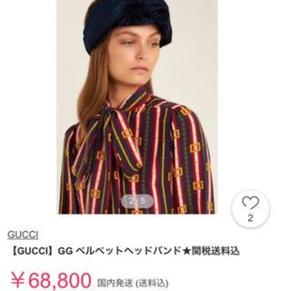 グッチ(Gucci)の大特価❣️7万円‼️グッチ ヘアバンド ターバン(ヘアバンド)