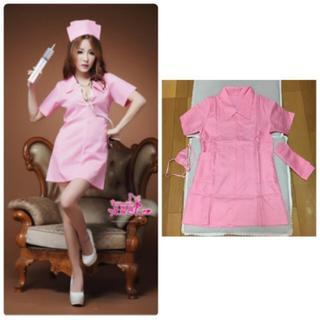 ピンク ナース 看護婦 コスプレ コスチューム 衣装(衣装)