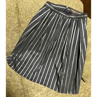 デミルクスビームス(Demi-Luxe BEAMS)のDemi-Luxe BEAMS ギャザースカート ストライプ 36 S(ひざ丈スカート)